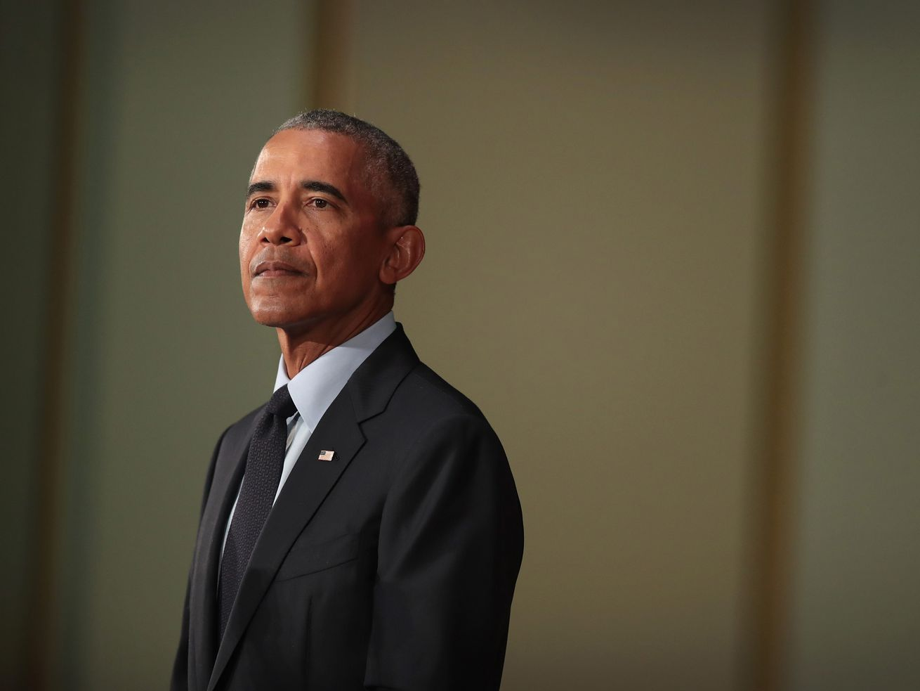 Former President Barack Obama speaks at the University of Illinois on Friday, September 7.