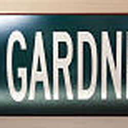 A street sign  sits on the mantel in Gardner's living room. It is just like the street sign honoring him in his hometown.