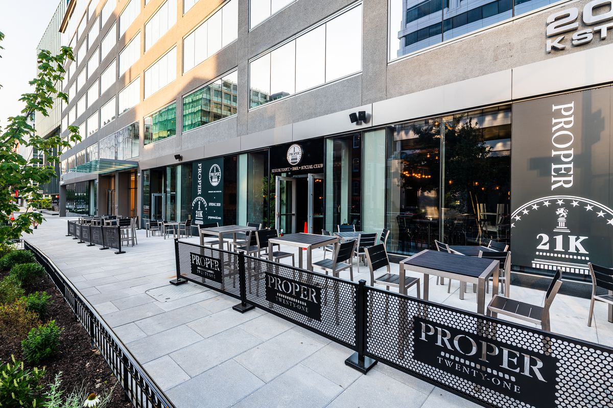 Proper21K has a 66-seat patio in Foggy Bottom
