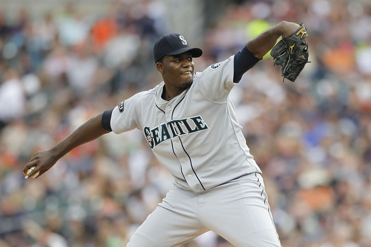 DETROIT - JUNE 11:  Michael Pineda #36 of the Seattle Mariners pitches in the second inning during the game against the Detroit Tigers at Comerica Park on June 11, 2011 in Detroit, Michigan.  (Photo by Leon Halip/Getty Images)