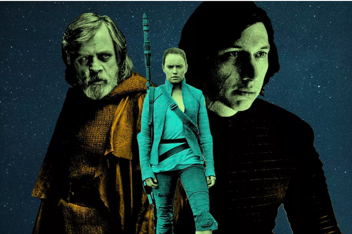 Luke, Rey, and Kylo Ren