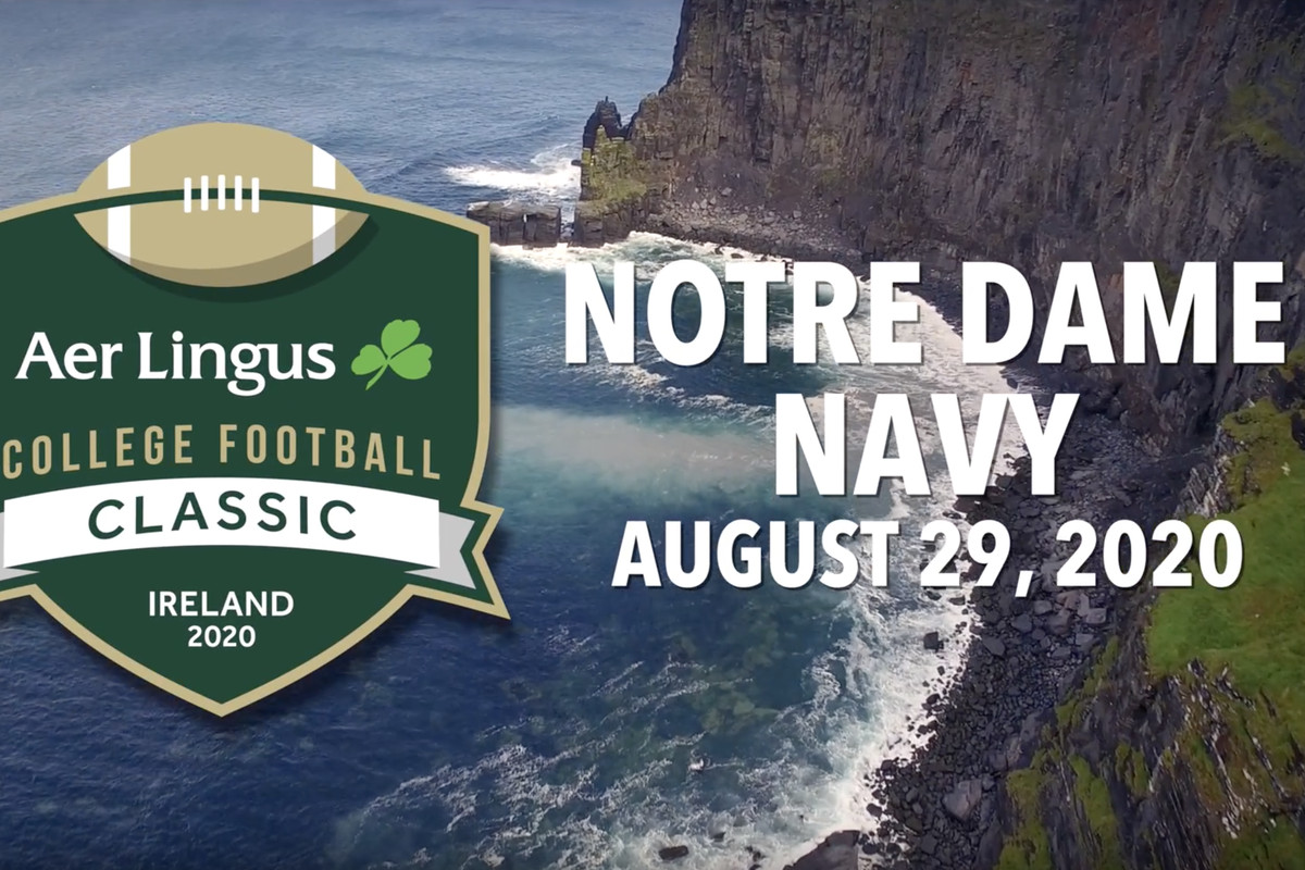Notre Dame 2020 Football Schedule.Notre Dame And Navy Will Play In Dublin Ireland In 2020