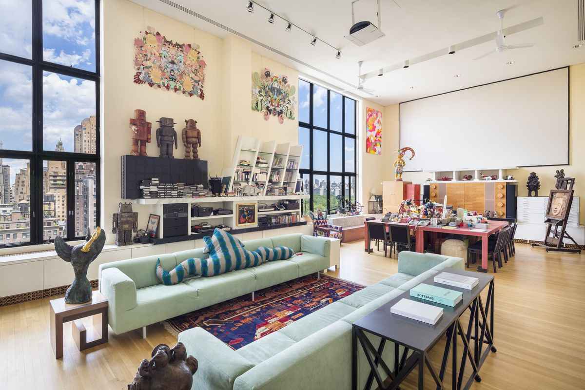 Upper west side penthouse designed by memphis design for Memphis sottsass