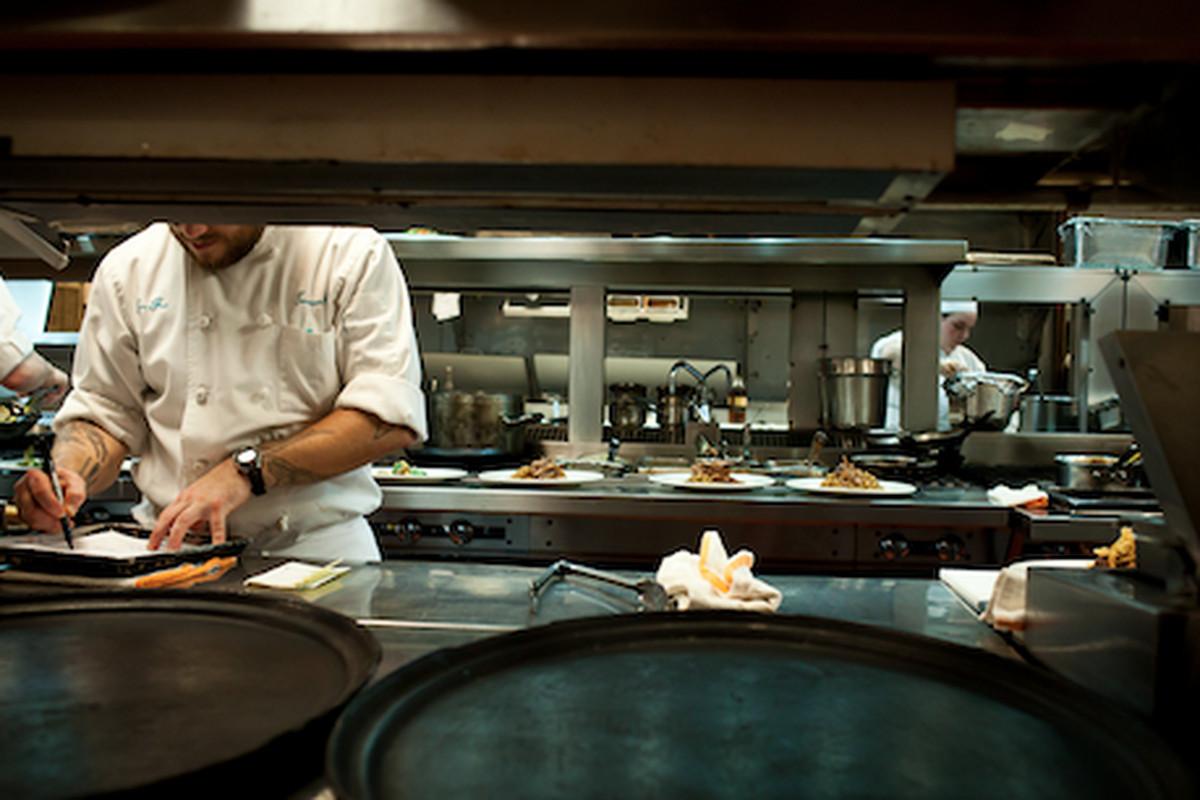 Chefs working hard