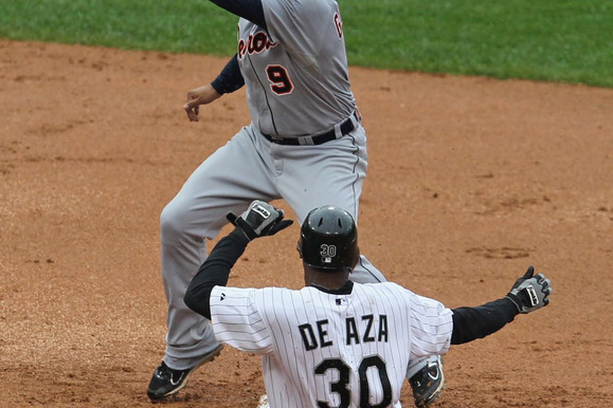 Alejandro De Aza contributed value to the White Sox against Detroit. He was sufficiently punished.
