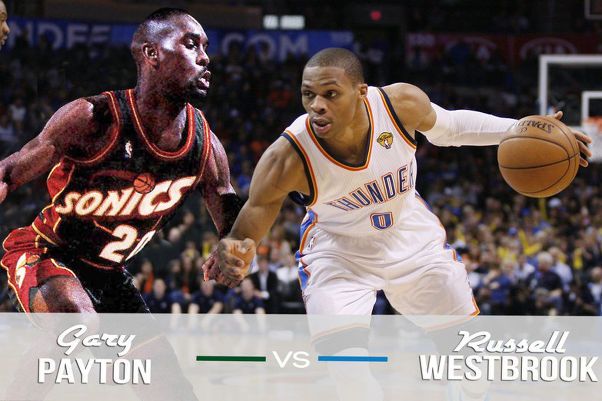 best website a947b 15cdc 1996 Seattle Supersonics vs. 2012 Oklahoma City Thunder ...