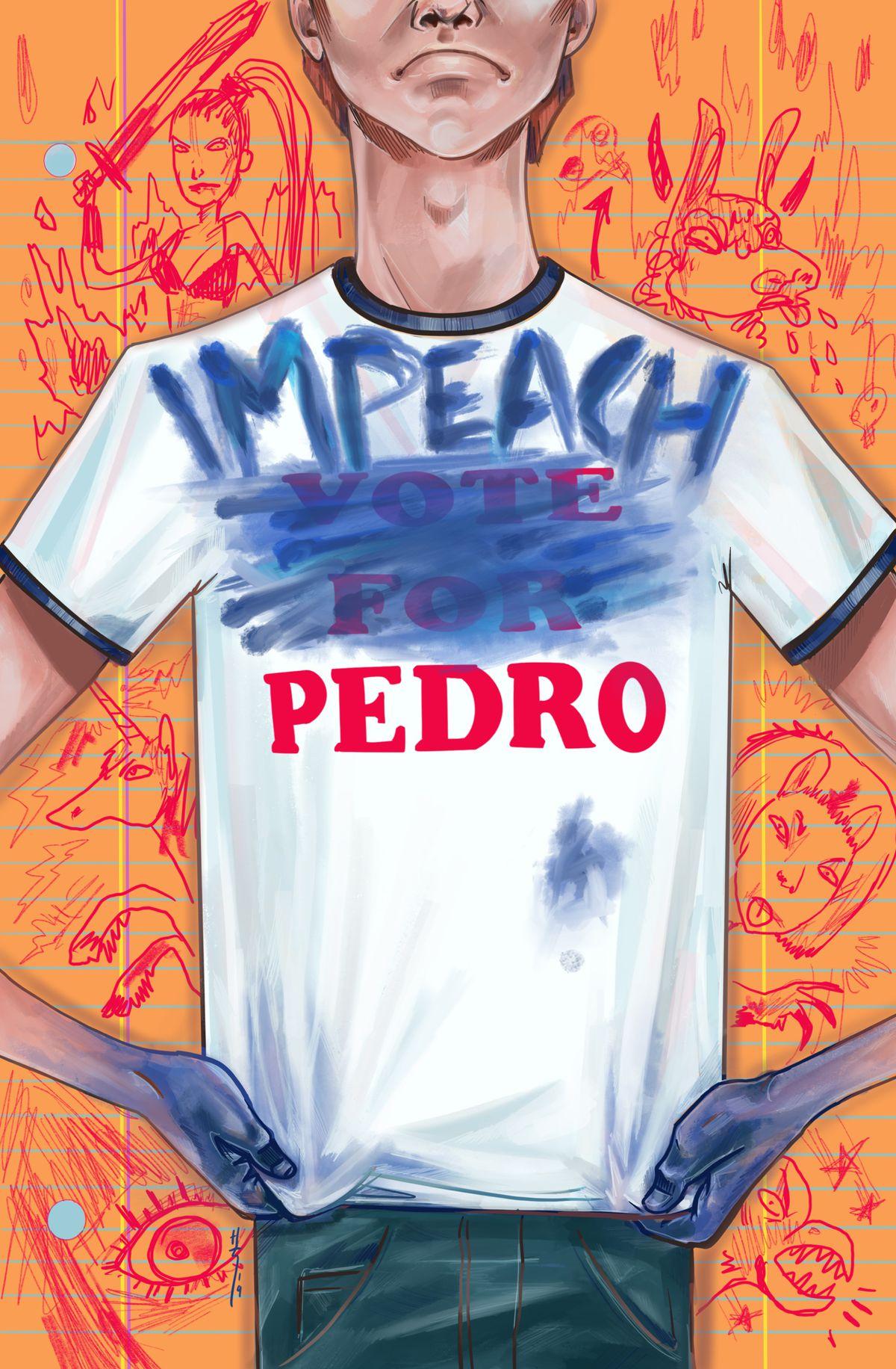 拿破仑炸药漫画威胁'Impeach Pedro'