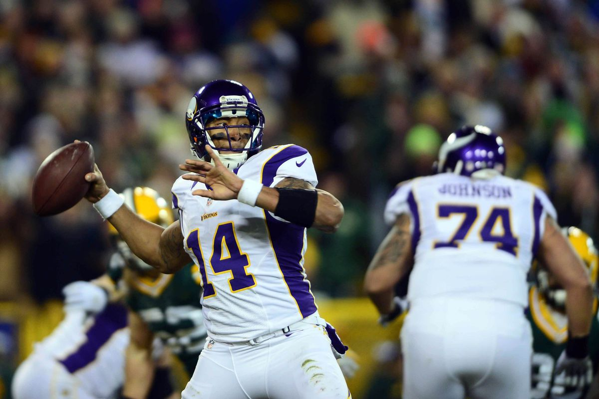 Joe Webb as the quarterback of the Vikings. Take a good look, folks. . .might be the last time you see it.