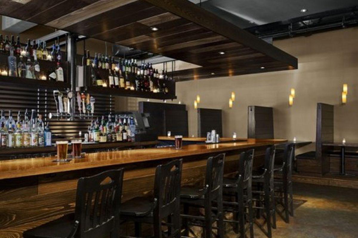 The bar at Cypress Street.