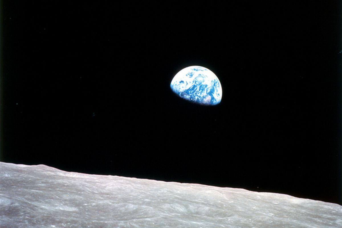 Apollo 8 moon image