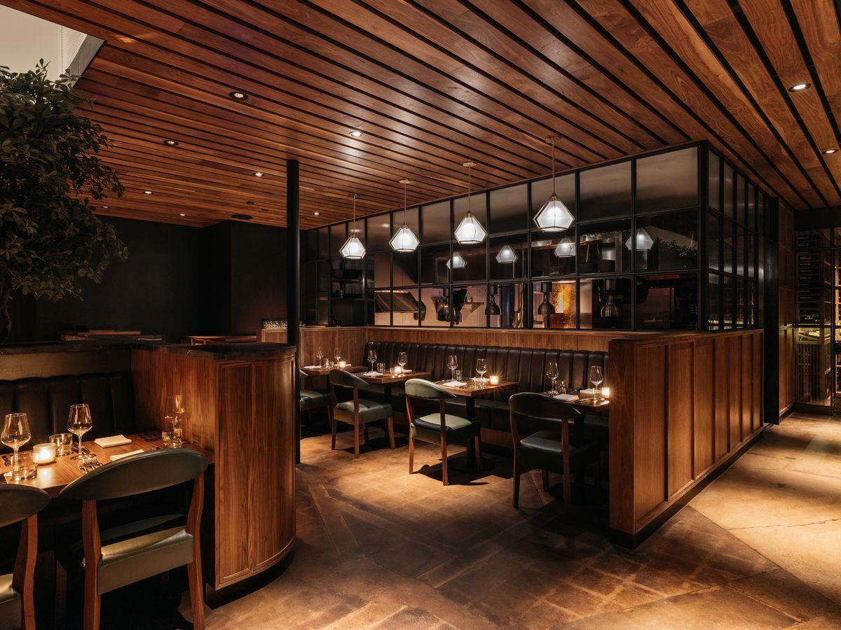 Matu restaurant's dining room in Beverly Hills, California