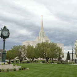 Hundreds gathered for the rededication of the Ogden temple Sunday.