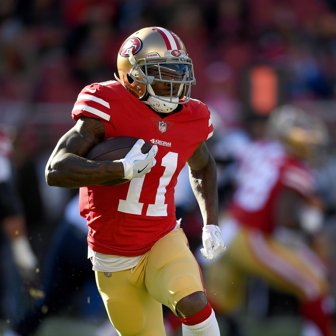 1d01fd5142a 49ers reportedly sign Marquise Goodwin to 3-year extension with  10 million  guaranteed - Niners Nation