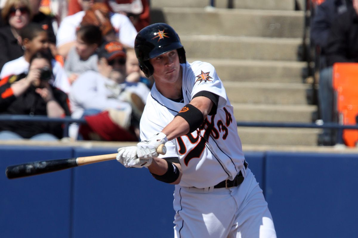 Michael Ohlman continues to pound out the hits in the Arizona Fall League
