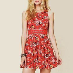 """<b>Free People</b> Floral Print Daisy Dress, <a href=""""http://www.freepeople.com/clothes-dresses/floral-print-daisy-fit-and-flare-dress/"""">$148</a>"""