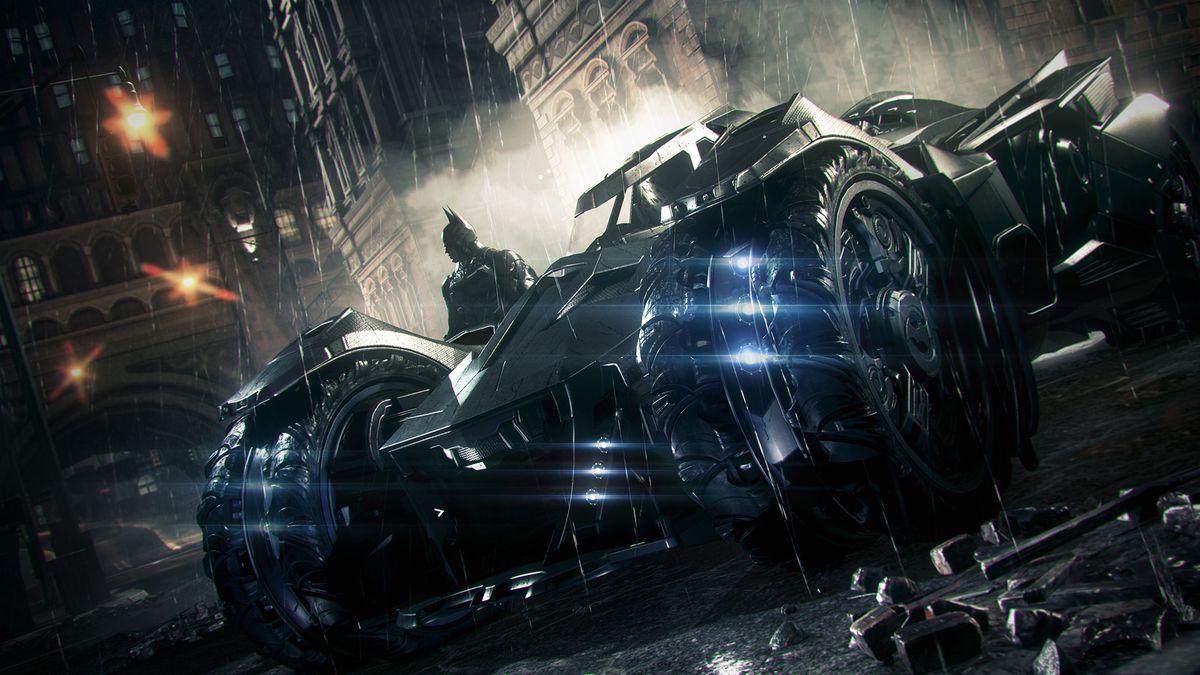 Batman: Arkham Knight - Batmobile in rain