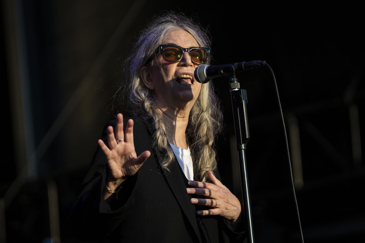 Patti Smith & Her Band perform on Day 1 of Riot Fest in Douglass Park on Thursday night.