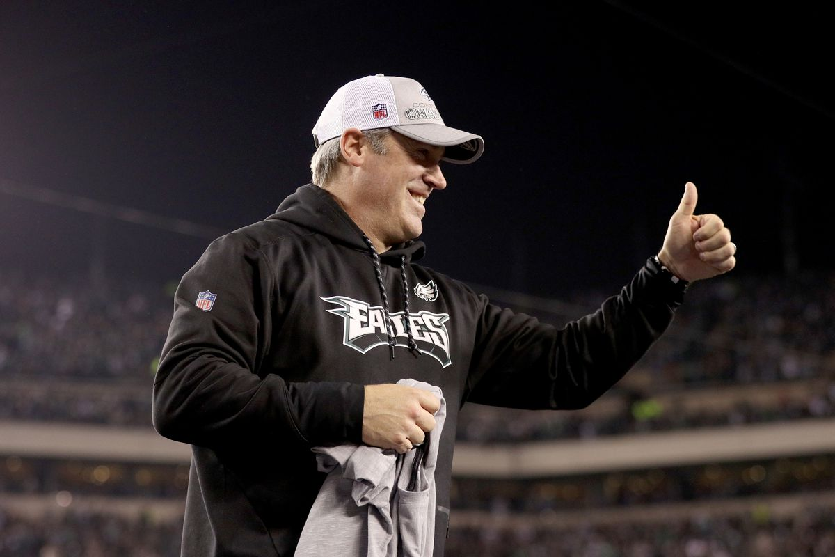 "8c2afcc9a64 Eagles News: Philadelphia is going to the ""stinkin' Super Bowl"" thanks to Doug  Pederson"