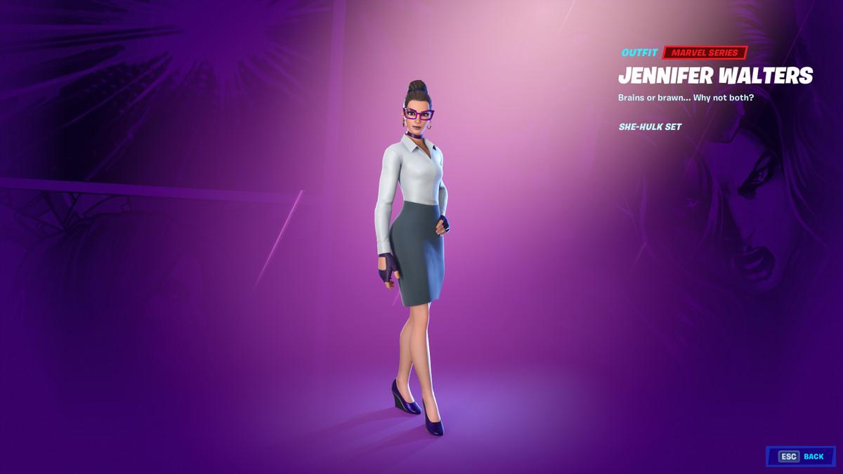 Fortnite's Jennifer Walters skin