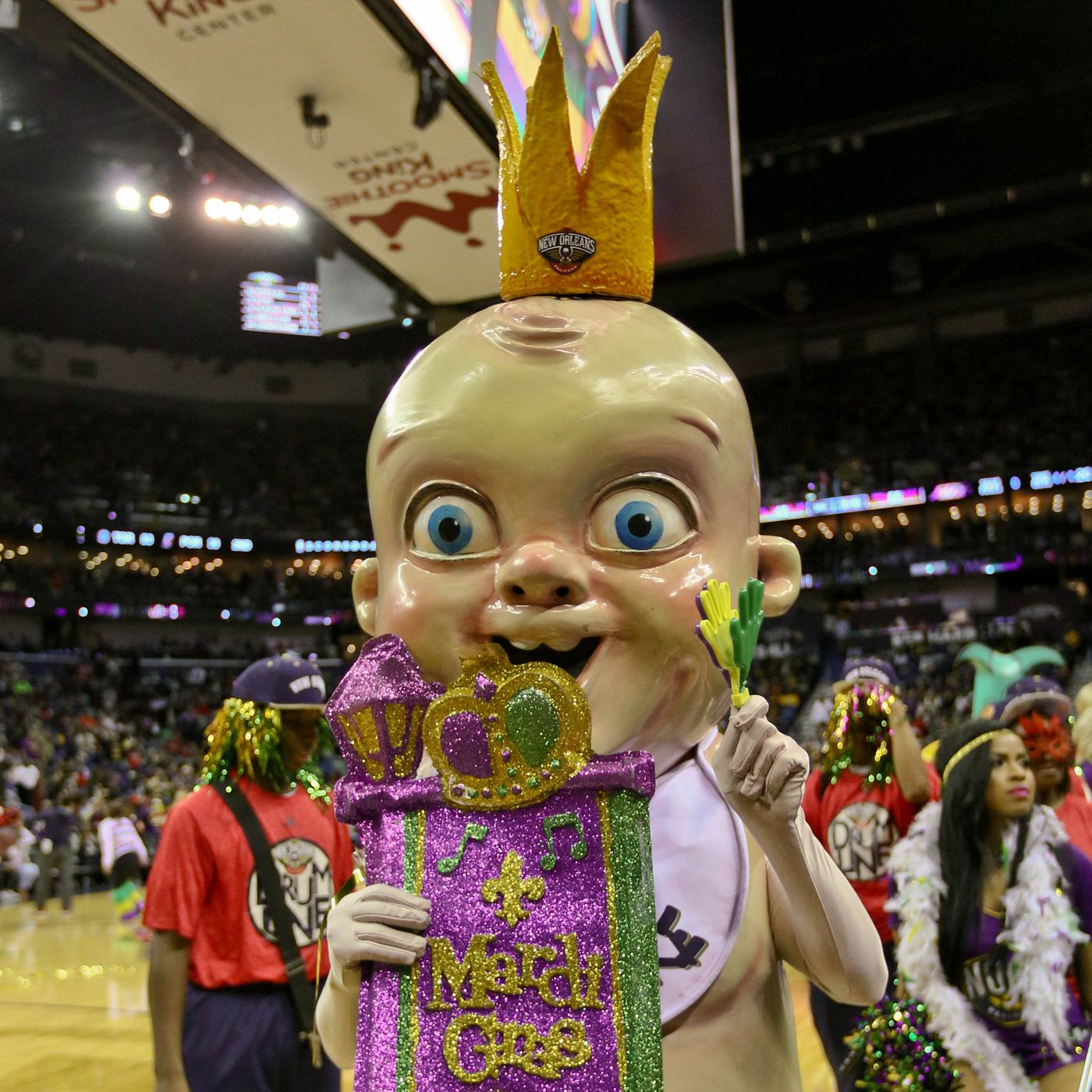 What Is King Cake Baby Meet The Terrifying New Orleans Nba All Star Weekend Mascot Sbnation Com