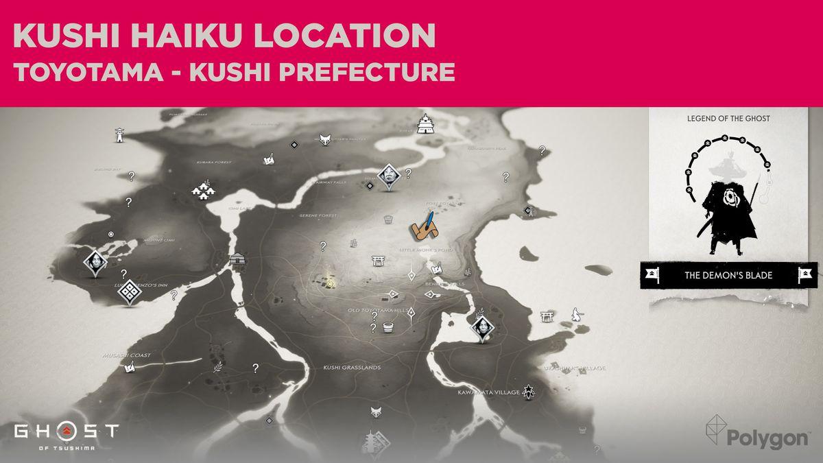 The Kushi haiku location in Ghost of Tsushima