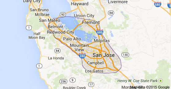 Silicon Valley Karte.Top 10 Punto Medio Noticias Silicon Valley Maps Google
