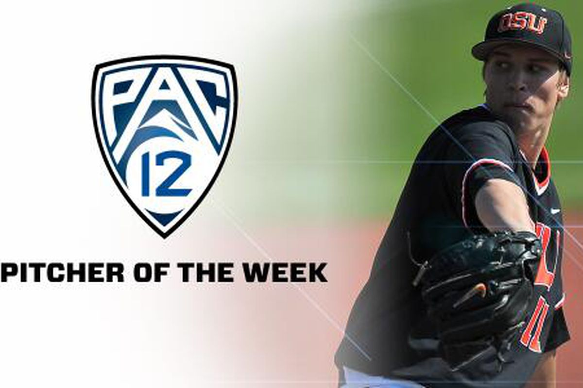 Jace Fry is this week's Pac-12 Pitcher of the Week for 6th ranked Oregon St.