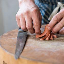 Han Oak's Peter Cho at work making budae-jjigae