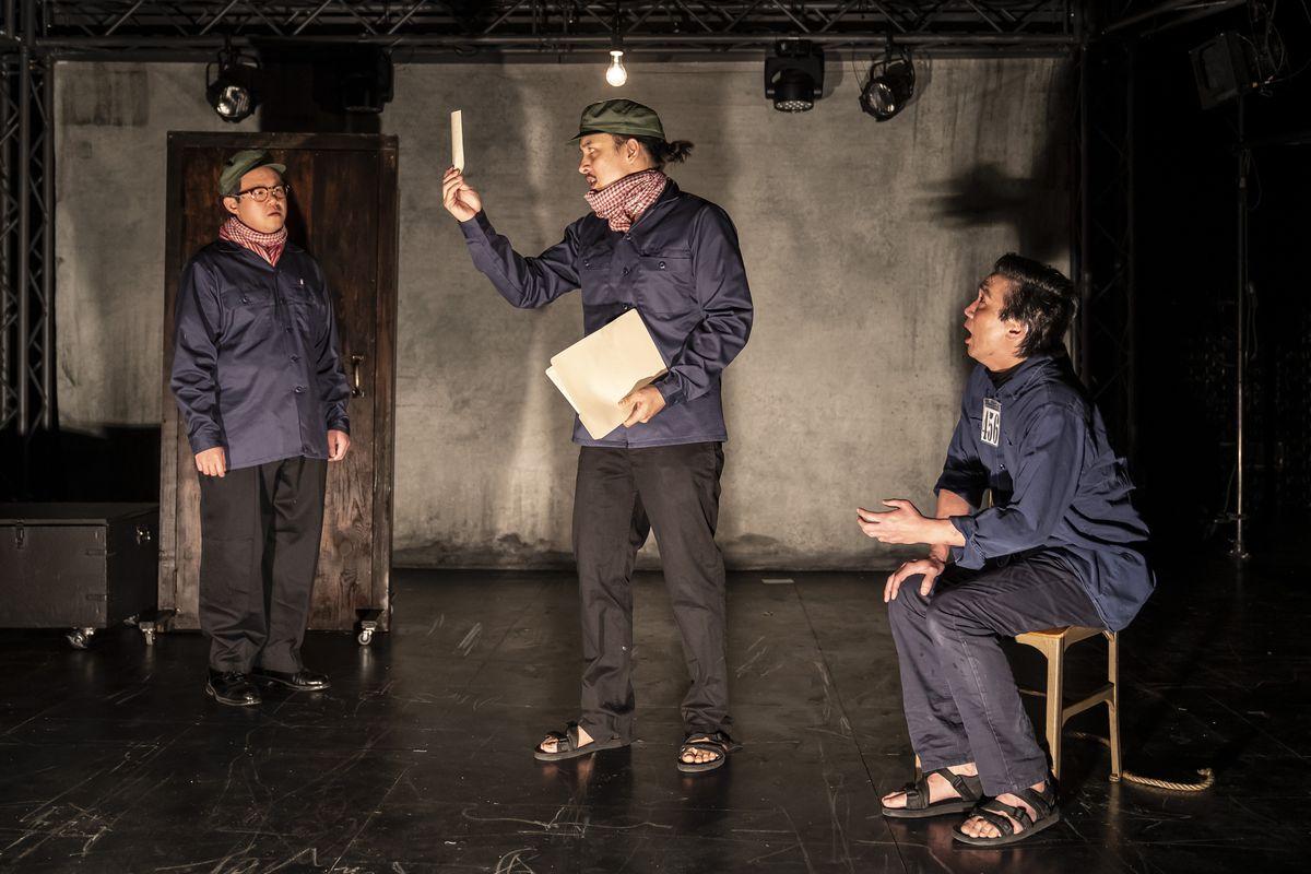"Rammel Chan (from left), Matthew Yee and Greg Watanabe star in Lauren Yee's ""Cambodian Rock Band"" at Victory Gardens Theater. | Liz Lauren Photo"