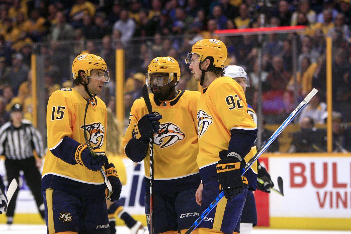 NHL: FEB 13 Blues at Predators