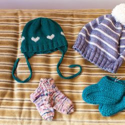 Assorted hats and socks