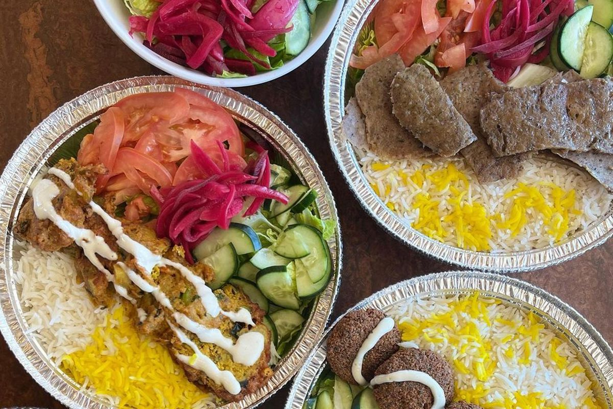 Gyro, falafle and kabob plates, on the menu at the new Chickpeas restaurant on Lake Mead Boulevard.