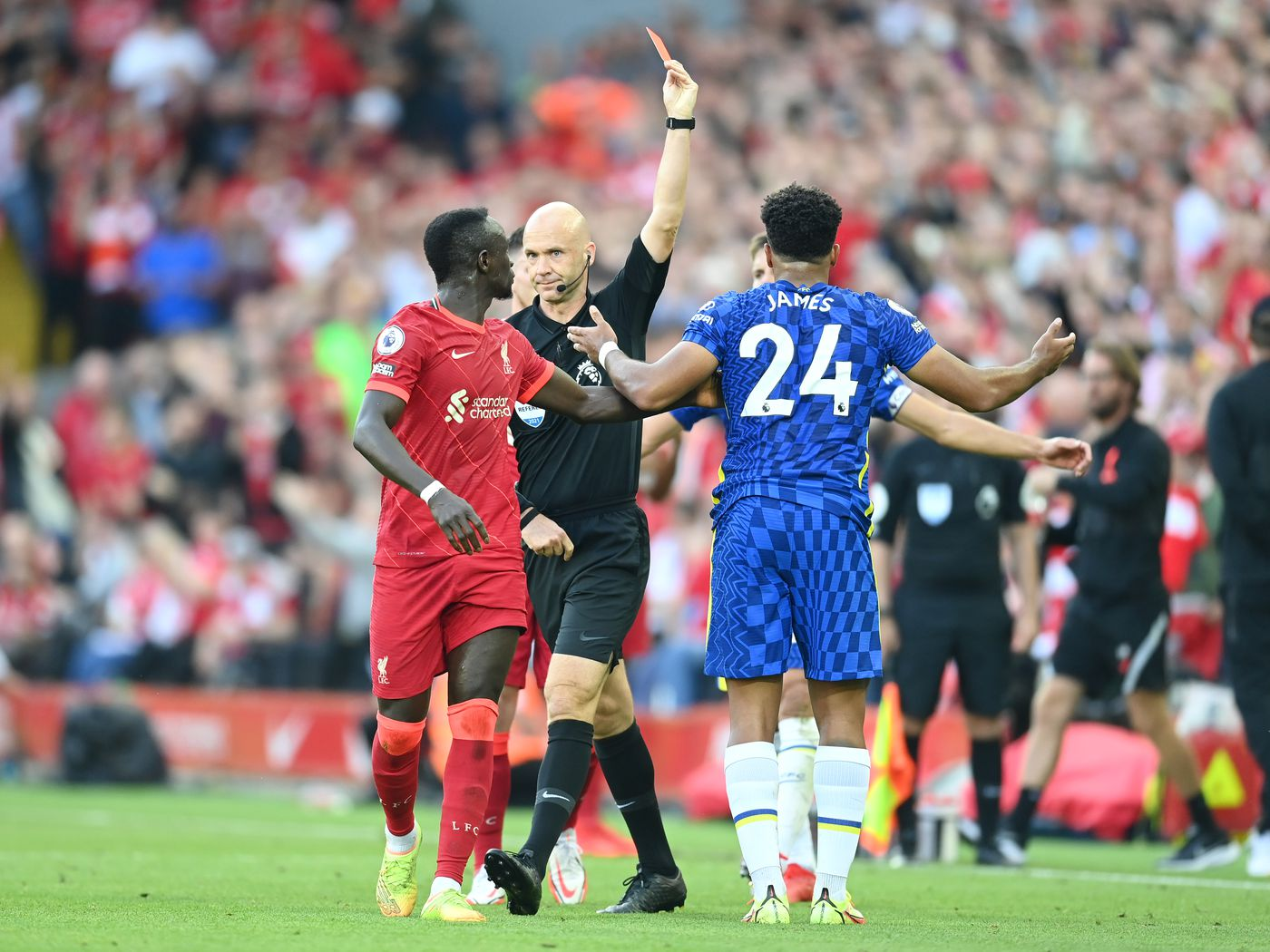 WATCH: Reece James red card, Anthony Taylor clownshow at Anfield - We Ain't  Got No History