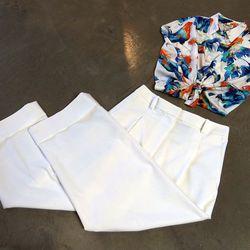 Whit top, $238; 3.1 Phillip Lim pants, $395