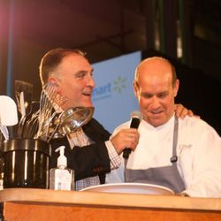 José Andrés and Todd Gray, competing in the second battle of the night.