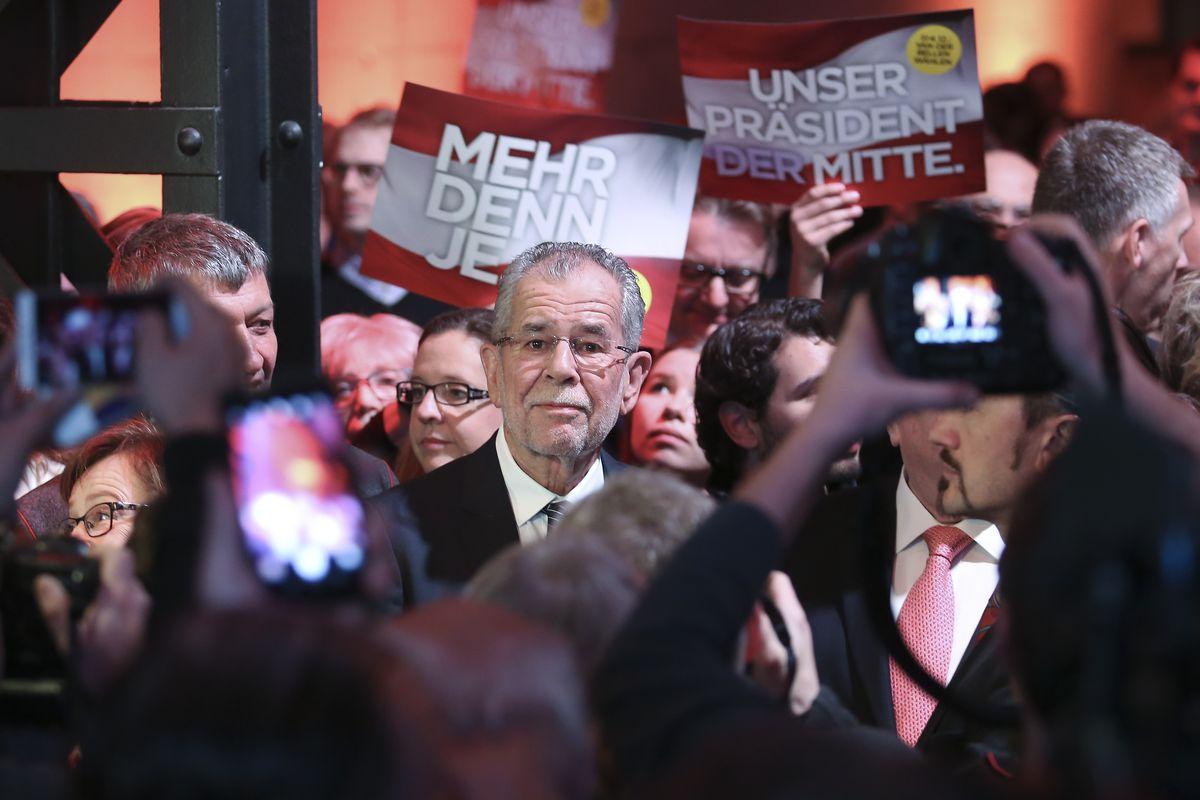 Alexander van der Bellen Holds Final Presidential Election Campaign Rally