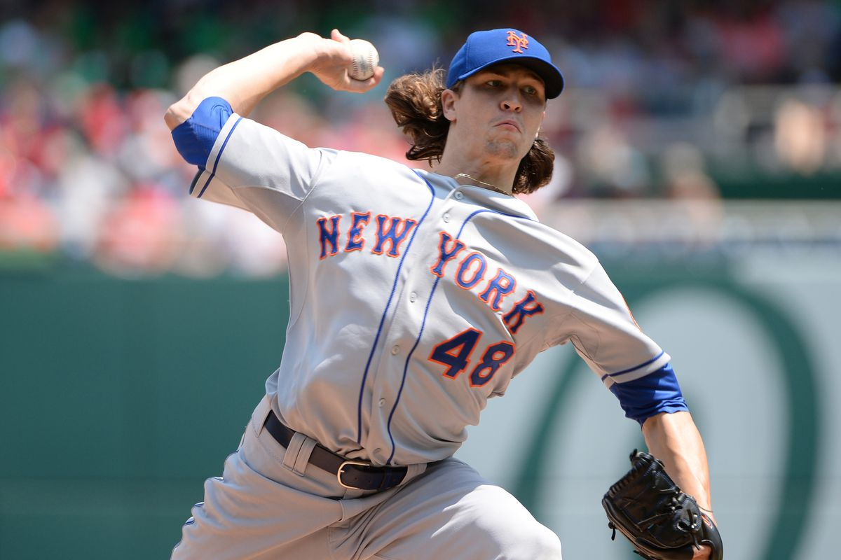 deGrom's mix of pitches and velocity is key to his success.