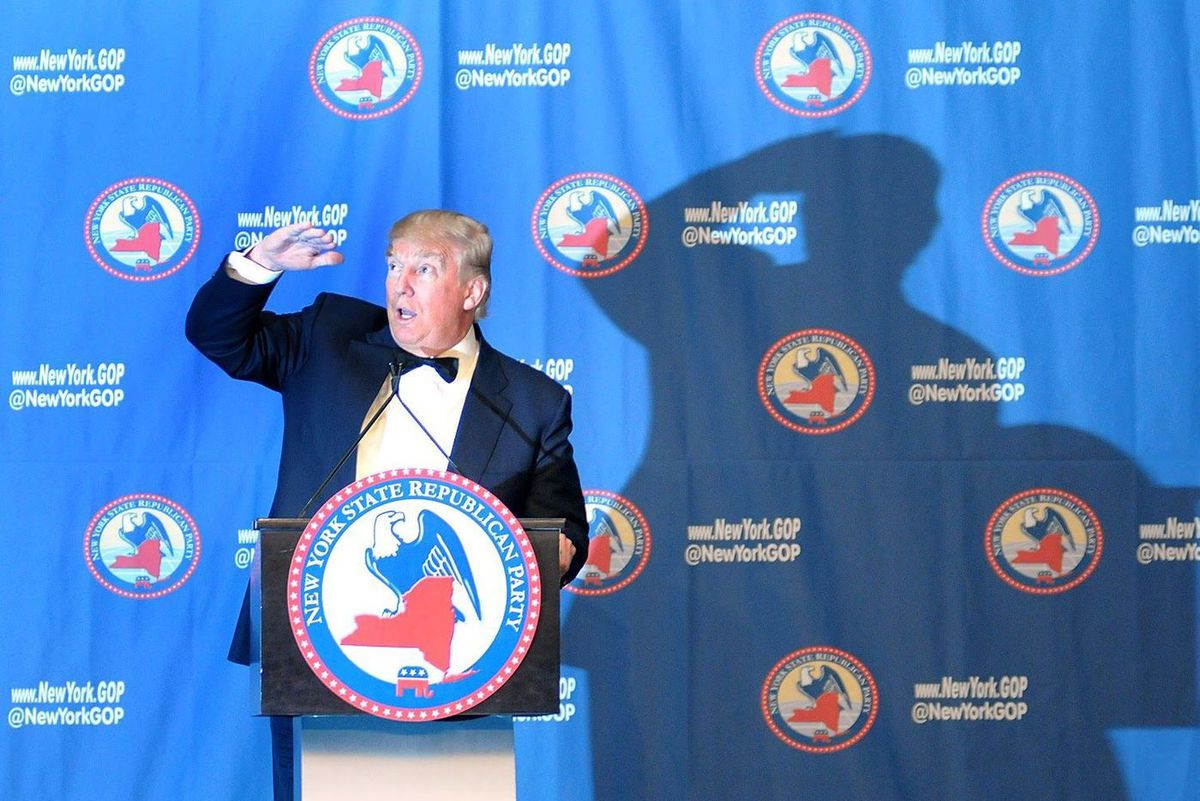 Donald Trump speaks at the New York GOP gala in Midtown, April 14, 2016.