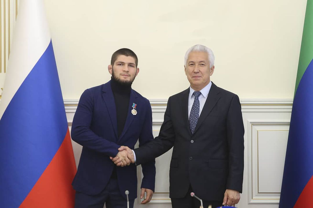 Khabib meeting with the Head of Dagestan