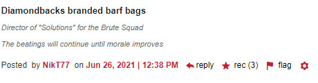 Diamondback branded barf bags (3 recs)