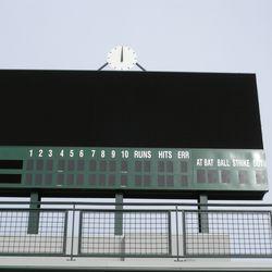 Even closer view scoreboard behind left field; top will have video