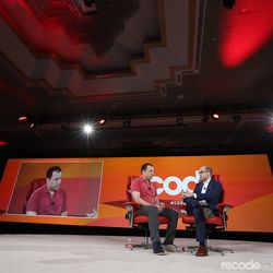 Peter Kafka (Sr. Correspondent, Recode), A.G. Sulzberger (Publisher, The New York Times)