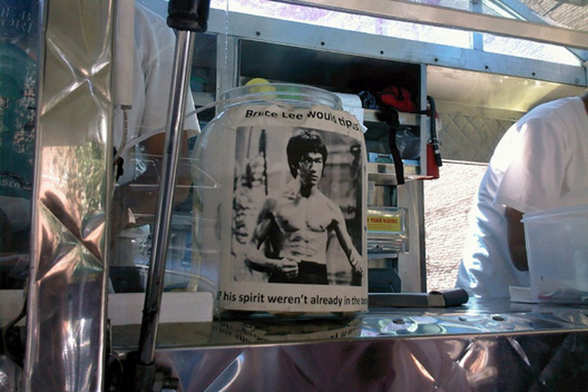 Bruce Lee would leave a tip.