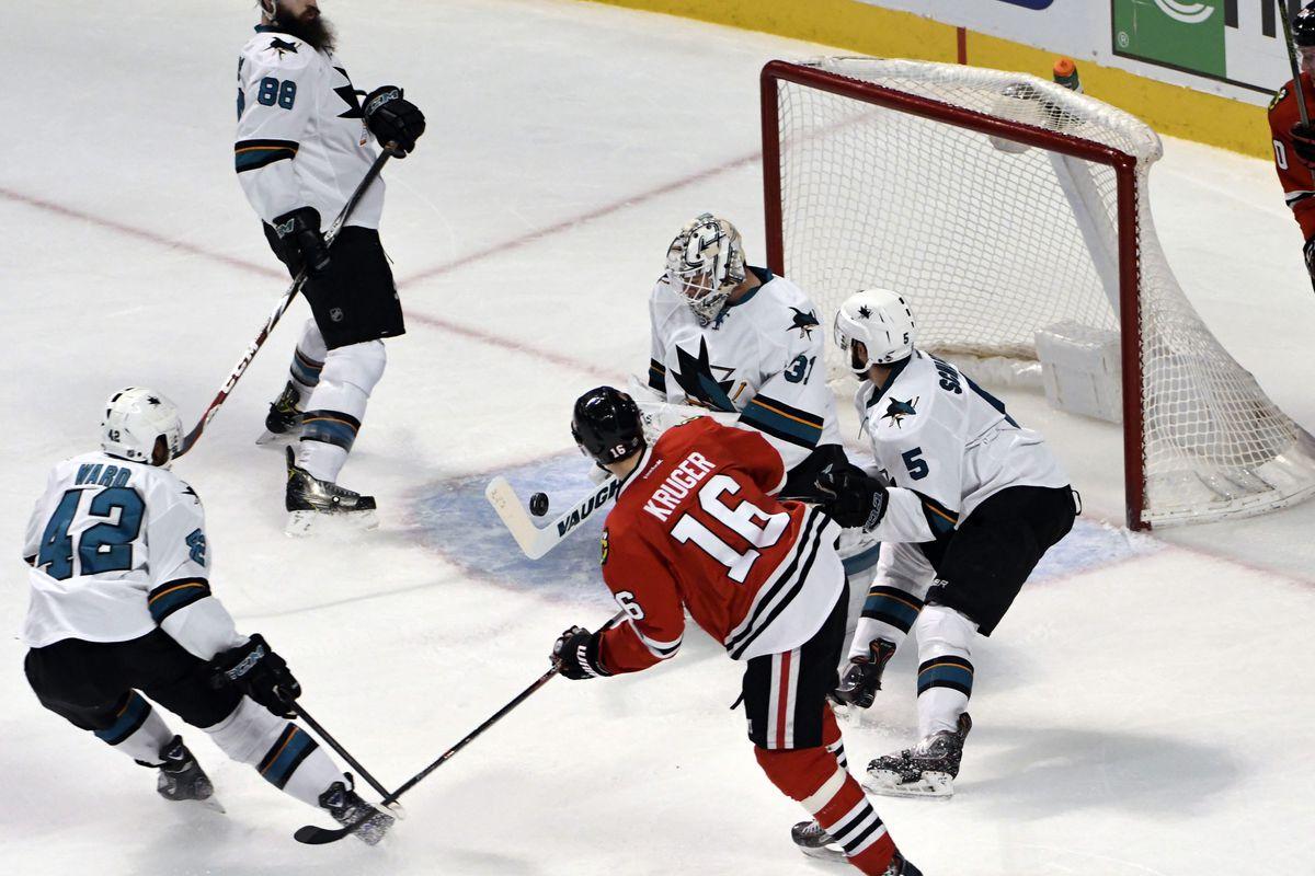 NHL: San Jose Sharks at Chicago Blackhawks