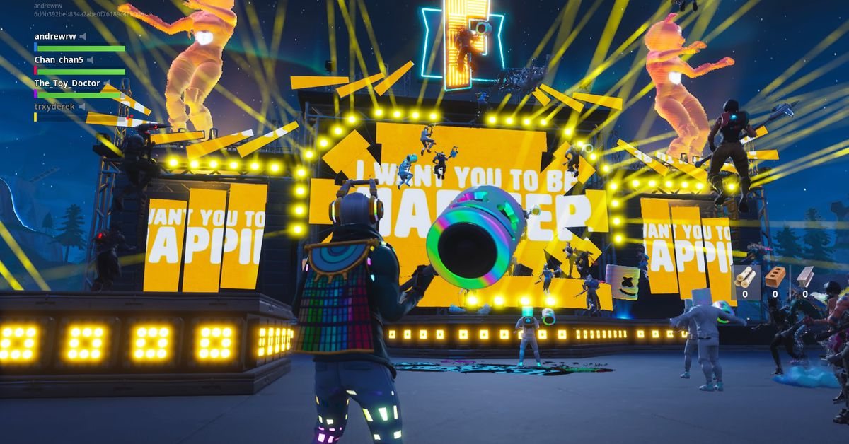 Fortnite s Marshmello concert was a arre and exciting glimpse of the future The Verge
