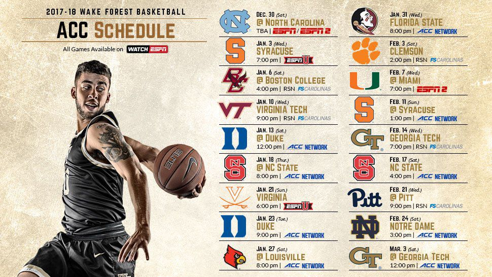 Wake Forest Basketball Acc Schedule Released Blogger So Dear
