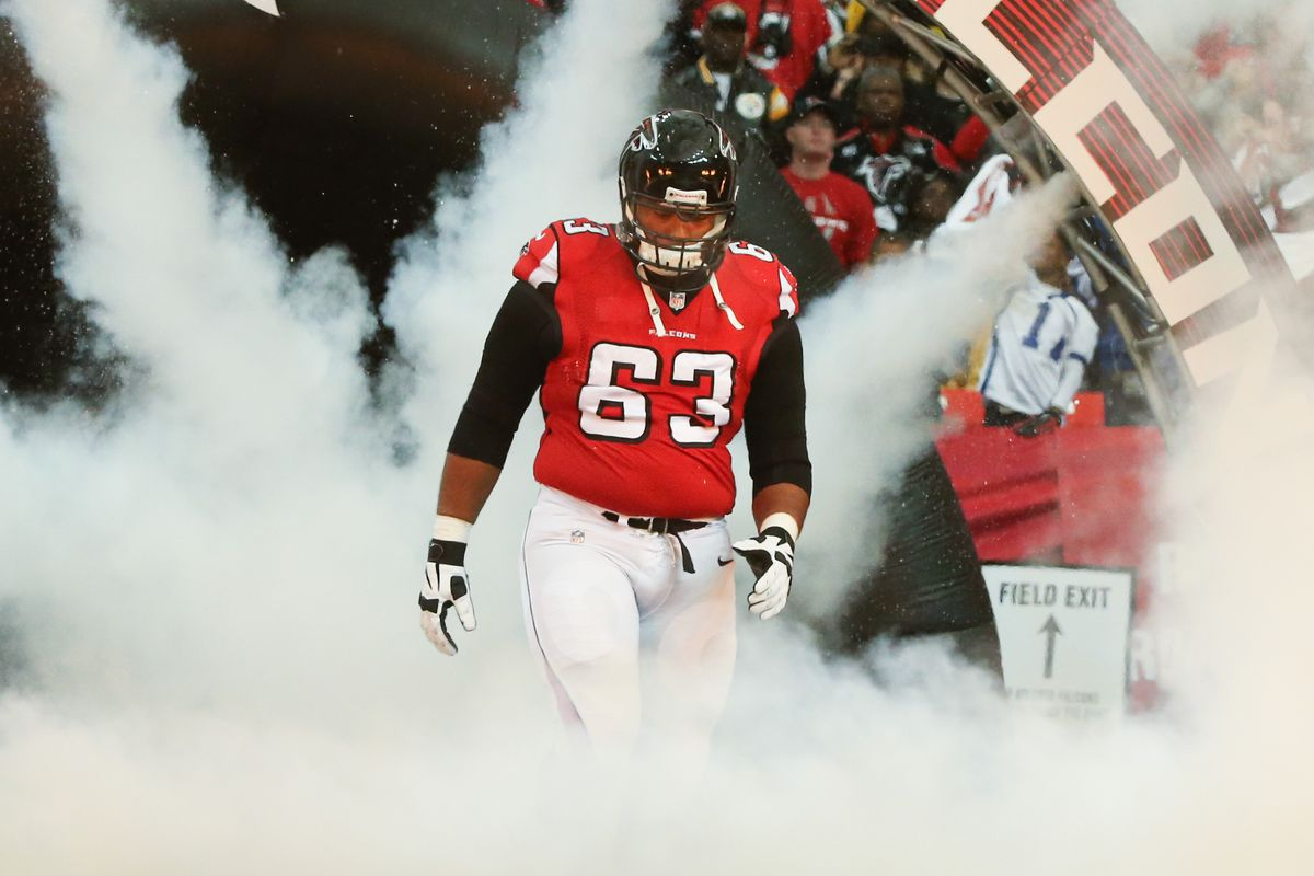 Justin Blalock was released by the Falcons.