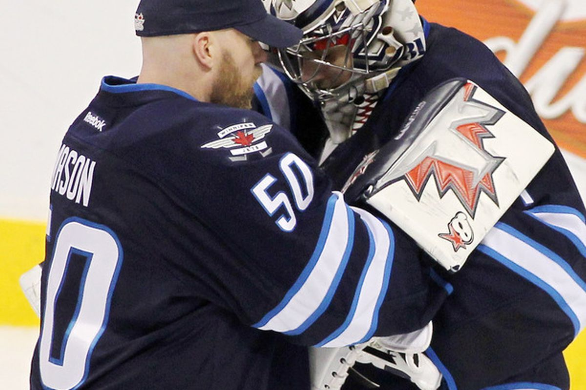 There, there Ondrej. I know my blocker rules, but you are still the #1 goalie here.  Cheer up!