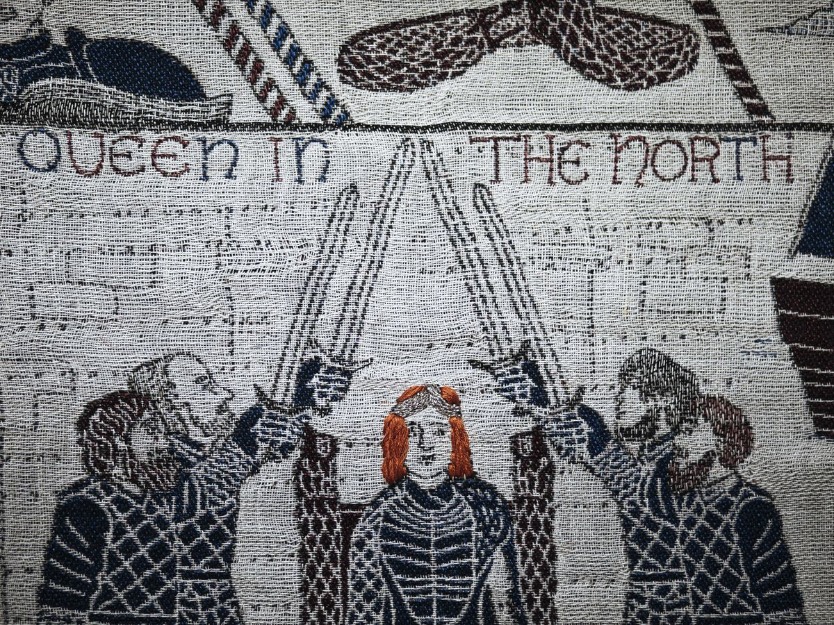 """The """"Game of Thrones"""" tapestry depicts major scenes from all eight seasons of the hit TV series."""