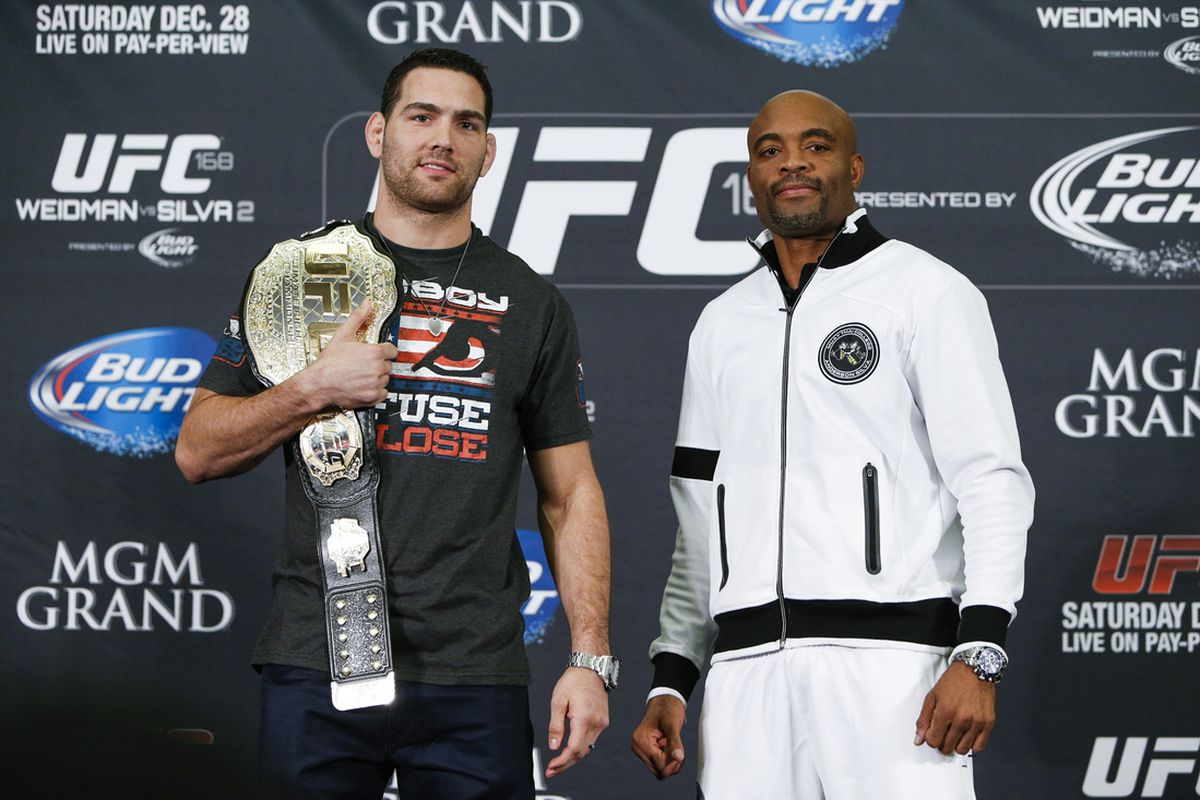 Chris Weidman and Anderson Silva meet again in the UFC 168 main event.